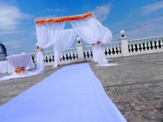 Декор свадебной арки