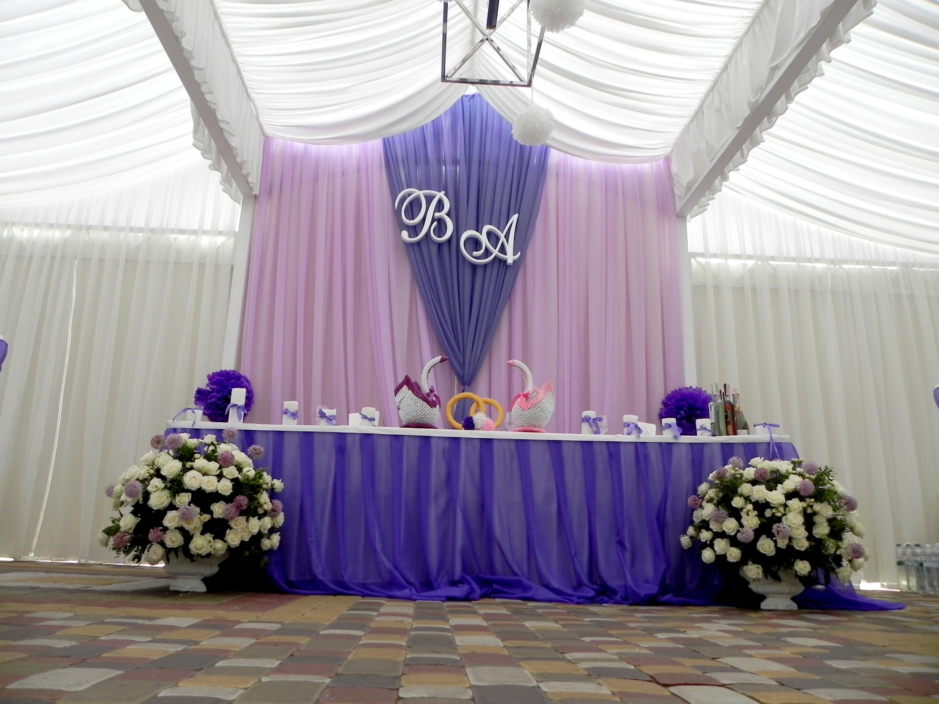 драпировка тканями шатра на свадьбу