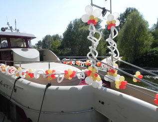 свадьба на пароходе