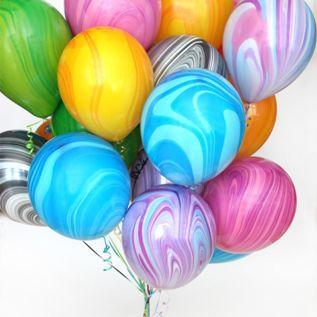 Воздушные шары мраморные