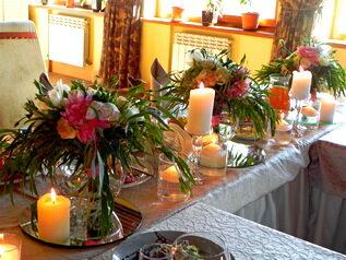 флористика со свечами