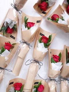 корпоративные букеты с роз