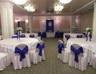 оформление свадьбы в синем