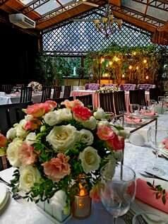 свадьба пудрово-розовом цвете