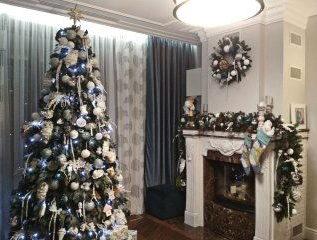 новогоднее оформление частного дома